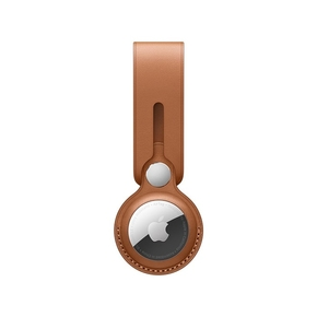 Product Apple AirTag Leather Loop - Saddle Brown base image