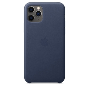 Product Apple iPhone 11 Pro Max Leather Case Midnight Blue base image