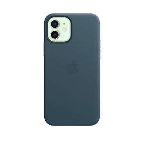 Product Apple iPhone 12 | 12 Pro Leather Case with MagSafe - Baltic Blue base image