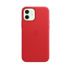 Product Apple iPhone 12 | 12 Pro Leather Case with MagSafe - (PRODUCT)RED base image