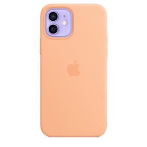 Product Apple iPhone 12 | 12 Pro Silicone Case with MagSafe - Cantaloupe base image