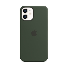 Product Apple iPhone 12 mini Silicone Case with MagSafe - Cyprus Green base image
