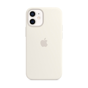 Product Apple iPhone 12 mini Silicone Case with MagSafe - White base image