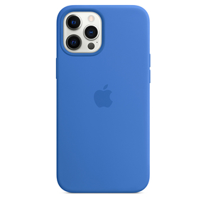 Product Apple iPhone 12 Pro Max Silicone Case with MagSafe - Capri Blue base image