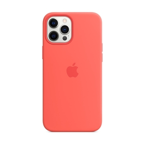 Product Apple iPhone 12 Pro Max Silicone Case with MagSafe - Pink Citrus base image