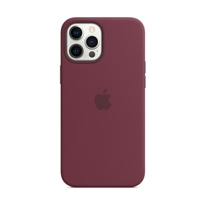 Product Apple iPhone 12 Pro Max Silicone Case with MagSafe - Plum base image