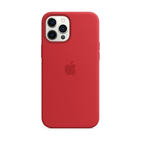 Product Apple iPhone 12 Pro Max Silicone Case with MagSafe - (PRODUCT)RED base image