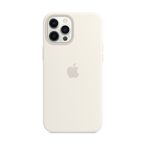 Product Apple iPhone 12 Pro Max Silicone Case with MagSafe - White base image