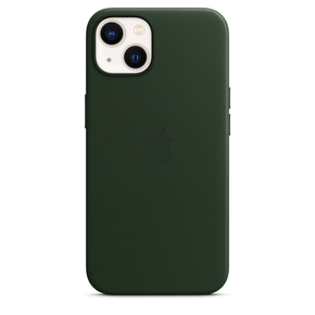 Product Apple iPhone 13 Leather Case with MagSafe - Sequoia Green base image