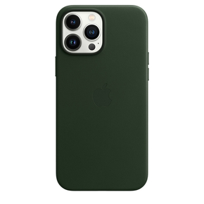 Product Apple iPhone 13 Pro Max Leather Case with MagSafe - Sequoia Green base image