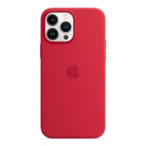 Product Apple iPhone 13 Pro Max Silicone Case with MagSafe - (PRODUCT)RED base image