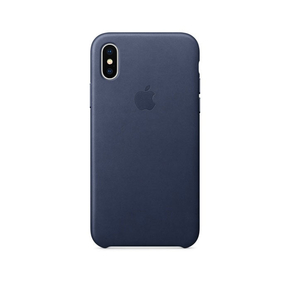 Product Apple iPhone X Leather Case Midnight Blue base image