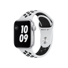 Product Apple Watch Nike SE 44mm Silver with Pure Platinum/Black Sport Band base image