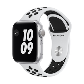 Product Apple Watch Nike Series 6 40mm Silver with Pure Platinum/Black Nike Sport Band base image