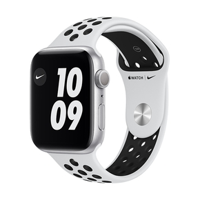 Product Apple Watch Nike Series 6 44mm Silver with Pure Platinum/Black Nike Sport Band base image