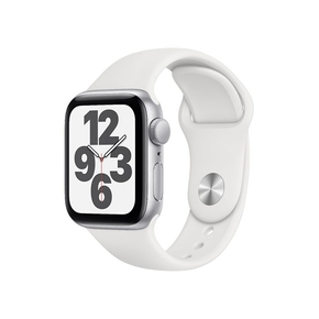 Product Apple Watch SE 44mm Silver with White Sport Band base image