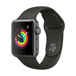 Product Apple Watch Series 3 GPS 38mm Space Gray with Black Sport Band base image