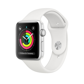 Product Apple Watch Series 3 GPS 42mm Silver with White Sport Band base image