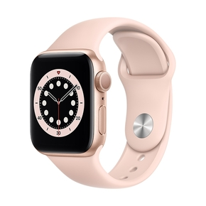 Product Apple Watch Series 6 40mm Gold with Pink Sand Sport Band base image