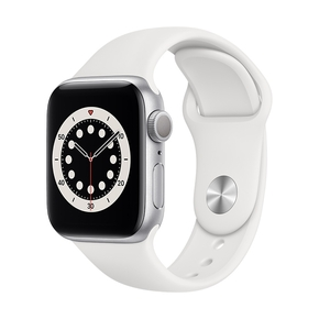 Product Apple Watch Series 6 40mm Silver with White Sport Band base image