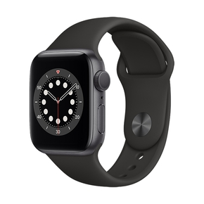 Product Apple Watch Series 6 40mm Space Grey with Black Sport Band base image