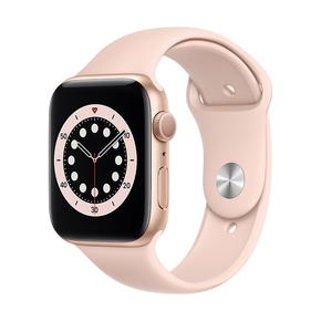 Product Apple Watch Series 6 44mm Gold with Pink Sand Sport Band base image