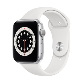 Product Apple Watch Series 6 44mm Silver with White Sport Band base image