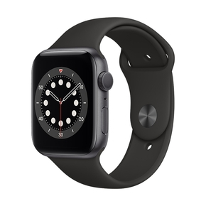 Product Apple Watch Series 6 44mm Space Grey with Black Sport Band base image