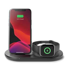 Product Belkin 3-1 Wireless Charger for iPhone, Apple Watch and AirPods black base image