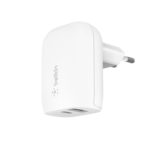 Product Belkin BOOST↑CHARGE 32W USB-C PD + USB-A Wall Charger White base image
