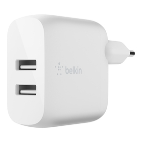 Product Belkin Boost Charge Dual USB-A Wall Charger 24W base image