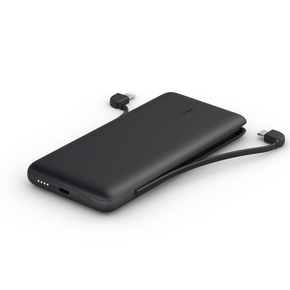 Product Belkin BOOST↑CHARGE Plus 10K USB-C Power Bank with Integrated Cables - Black base image