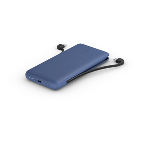 Product Belkin BOOST↑CHARGE Plus 10K USB-C Power Bank with Integrated Cables - Blue base image