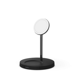 Product Belkin BOOST CHARGE PRO 2-in-1 Wireless Charger Stand with MagSafe, Black base image