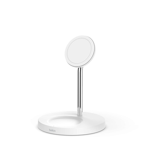 Product Belkin BOOST CHARGE PRO 2-in-1 Wireless Charger Stand with MagSafe, White base image