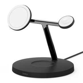 Product Belkin BOOST CHARGE PRO 3-in-1 Wireless Charger Stand with MagSafe Black base image