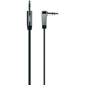 Product Belkin Cable 3.5mm Audio M/M Flat RT Angle 0.9M Black base image
