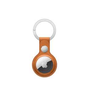 Product Apple AirTag Leather Key Ring - Golden Brown base image