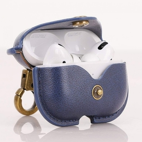 Product Cresee Leather case for Airpods Pro Blue base image