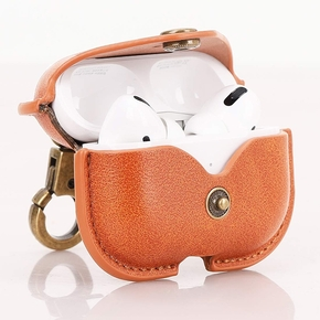 Product Cresee Leather case for Airpods Pro Case Brown base image