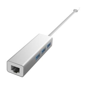 Product Devia USB-C Hub 3-Port USB 3.0 & Ethernet base image
