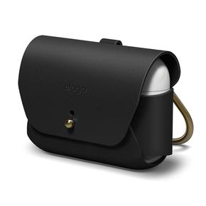 Product Elago Leather case for Airpods Pro Case Black base image