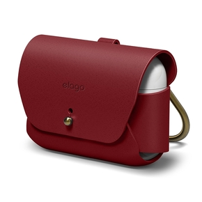 Product Elago Leather Case for Airpods Pro Case Red base image