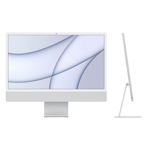 "Product iMac 24"" Retina 4.5K Apple M1 Chip / 8-Core GPU / 512GB - Silver (MGPD3GR/A) base image"
