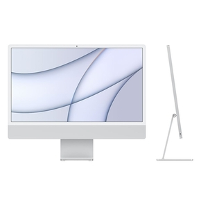 "Product iMac 24"" Retina 4.5K Apple M1 Chip / 8-Core GPU / 16GB / 512GB - Silver - BTO base image"