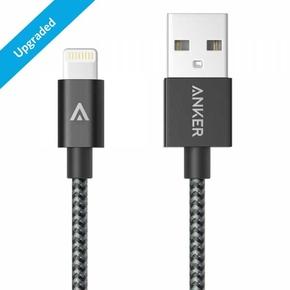 Product Καλώδιο Anker Nylon Braided Lightning to USB 90 εκ space gray base image