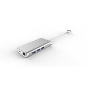 Product LMP USB-C mini Dock 5-port Silver base image