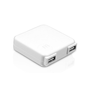Product Macally 10W Dual 2Port USB Ac Charger - white base image