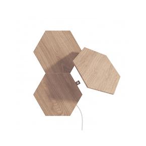 Product Nanoleaf Elements Hexagons Expansion Pack 3PK - Wood Look base image