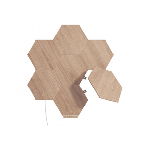 Product Nanoleaf Elements Hexagons Starter Kit 7PK - Wood Look base image